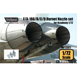 F/A-18A/B/C/D Hornet F404 Engine Nozzle set (for Academy 1/72)