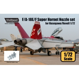F/A-18E/F Super Hornet F414 Engine Nozzle set (for Hasegawa/Revell 1/72)