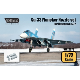 Su-33 Sea Flanker AL-31F Engine Nozzle set (for Hasegawa 1/72)