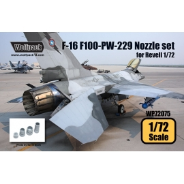 F-16 F100-PW-229 Engine Nozzle set (for Revell 1/72)