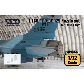 F-16C F110-GE-129 Engine Nozzle set (for Tamiya 1/72)