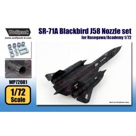SR-71A Blackbird J58 Engine Nozzle set (for Hasegawa/Academy 1/72)
