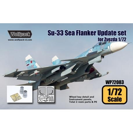 Su-33 Sea Flanker Update set (for Zvezda 1/72)
