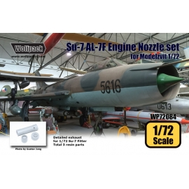 Su-7 Fitter AL-7F Engine Nozzle set (for Modelzvit 1/72)