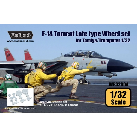 F-14 Tomcat Late Type wheel set (for Tamiya/Trumpeter 1/32)