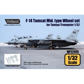 F-14 Tomcat Mid. Type wheel set (for Tamiya/Trumpeter 1/32)