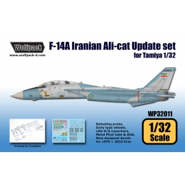 F-14A Iranian Alicat Update set (for Tamiya 1/32)