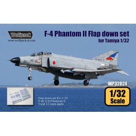 F-4 Phantom II Hard Wing Flap down set (for Tamiya 1/32)