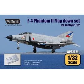 F-4 Phantom II Hard Wing Flap down set (for Tamiya 1/32)