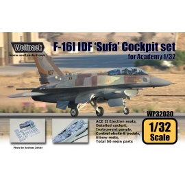 F-16I IDF 'Sufa' Cockpit set (for Academy 1/32)