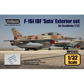 F-16I IDF 'Sufa' Exterior set (for Academy 1/32)