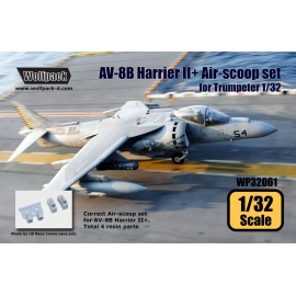 AV-8B Harrier II+ Correct Air-scoop set (for Trumpeter 1/32)