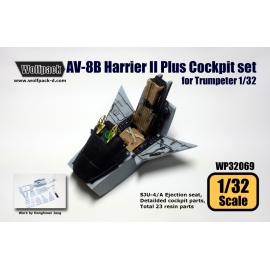 AV-8B Harrier II Plus Cockpit set (for Trumpeter 1/32)