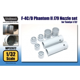 F-4C/D Phantom II J79 Engine Nozzle set (for Tamiya 1/32)