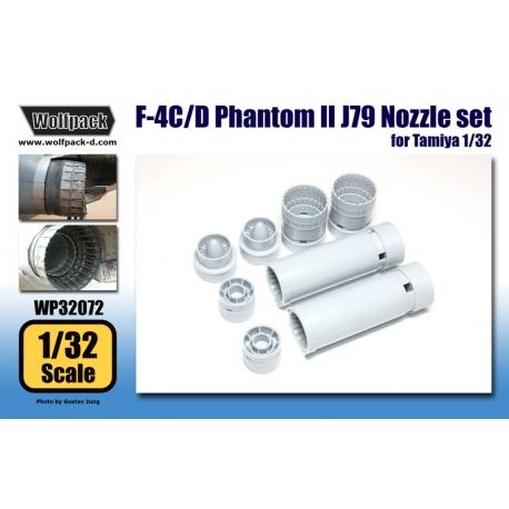 F-4C/D Phantom II J79 Engine Nozzle set (for Tamiya 1/32)