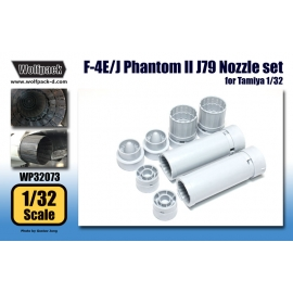 F-4E/J Phantom II J79 Engine Nozzle set (for Tamiya 1/32)