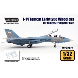 F-14 Tomcat EarlyType wheel set (for Tamiya/Trumpeter 1/32)
