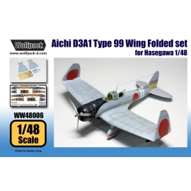 Aichi D3A1 Type 99 Wing Folded set (for Hasegawa 1/48)