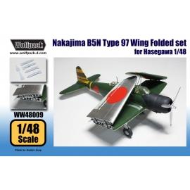 Nakajima B5N Type 97 Wing Folded set (for Hasegawa 1/48)