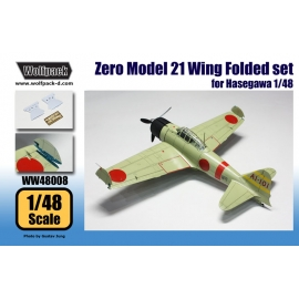 A6M2b Zero Model 21 Wing Folded set (for Hasegawa 1/48)