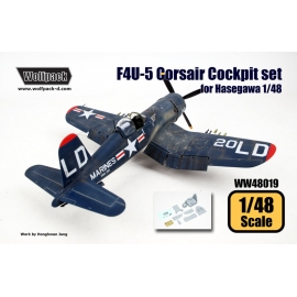 F4U-5 Corsair Cockpit set (for Hasegawa 1/48)