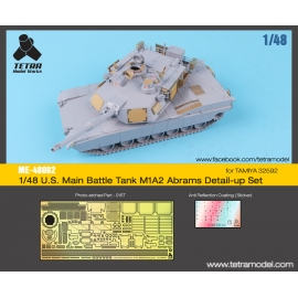 1/48 U.S. Main Battle Tank M1A2 Abrams Detail-up Set (for TAMIYA 32592)