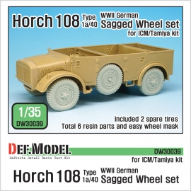 WW2 German Horch 108 typ1a/40 Wheel set 1(for ICM/Tamiya 1/35)