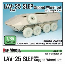 "US LAV-25 SLEP ""XML"" Sagged Wheel set (for Trumpeter 1/35)"