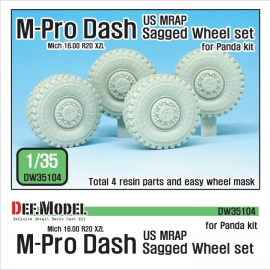 US MRAP M-pro Dash Sagged Wheel set (for Panda 1/35)