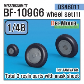 Messerschmitt Bf-109G6 Wheel set (1) (for Tamiya 1/48)