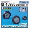 Messerschmitt Bf-109G6 Wheel set (2) (for Tamiya 1/48)
