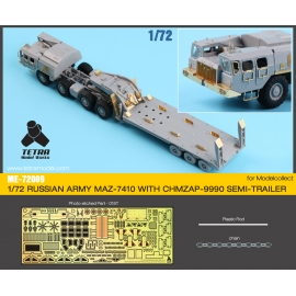 1/72 Russian MAZ-7410 w/ChMZAP-9990 Semi-Trailer Detail-up Set (for Model Collect)