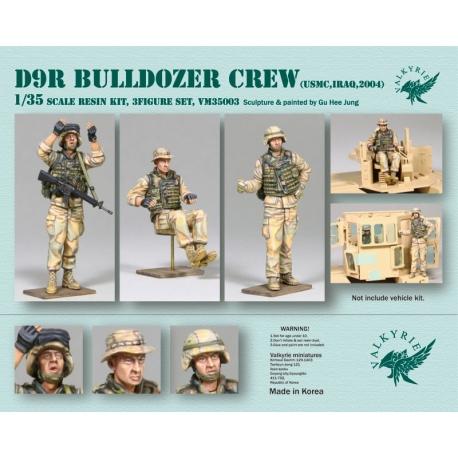 1/35 D9R Bulldozer Crew - USMC in Iraq 2004 (3 Figures)