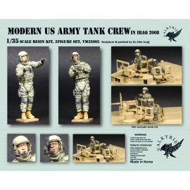 1/35 Modern US Army Tank Crew in Iraq 2008 (2 Figures)