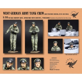 1/35 West German Army Tank Crew - 1970~80 Era (2 Figures and 1 Bust)