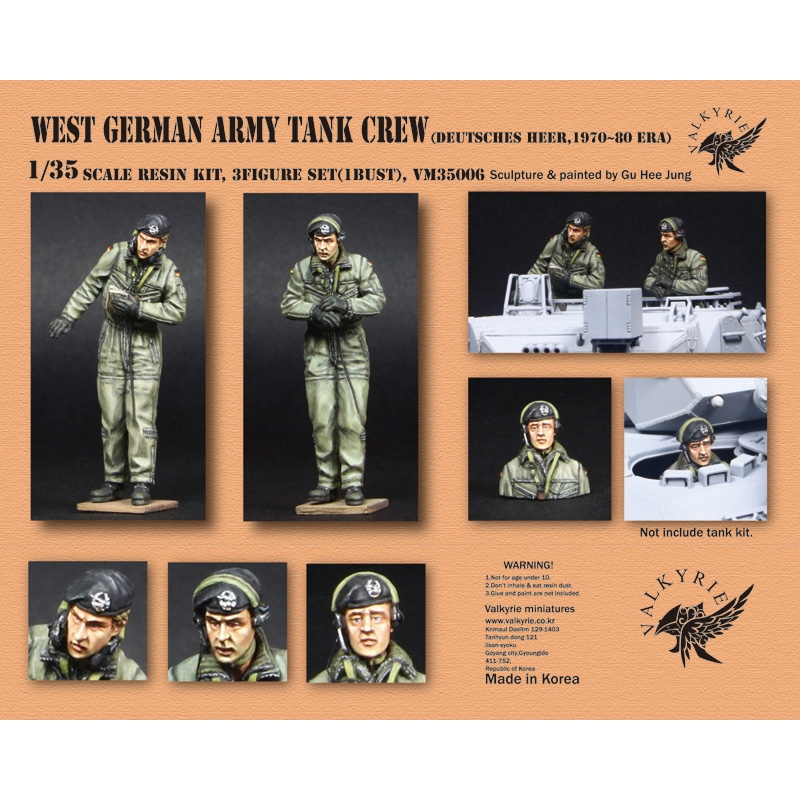 1/35 West German Army Tank Crew - 1970~80 Era (2 Figures and