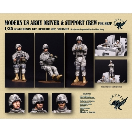 1/35 Modern US Army Driver and Support Crew for MRAP (3 Figures)
