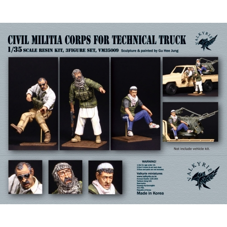 1/35 Civil Militia Corps for Technical Truck (3 Figures)