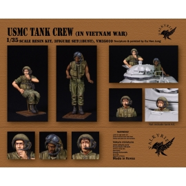 1/35 USMC Tank Crew IN Vietnam War (2 Figures and 1 Bust)