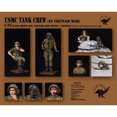 1/35 USMC Tank Crew IN Vietnam War (2 Figures and 1 Bust)