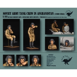 1/35 Soviet Army Tank Crew in Afghanistan - 1980 Era (2 Figures and 1 Bust)