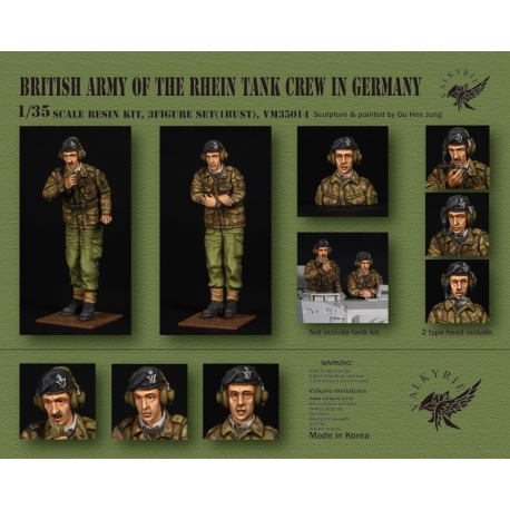 1/35 British Army of Rhein Tank Crew in Germany - 1960 ~ 70 Era (2 Figures and 1 Bust)