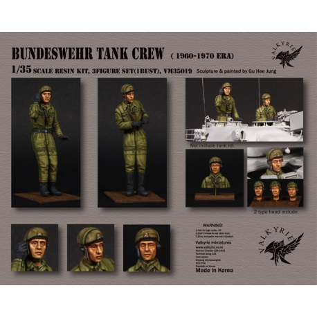 1/35 Bundeswehr Tank Crew - 1960~ 1970 Era (2 Figures and 1 Bust)
