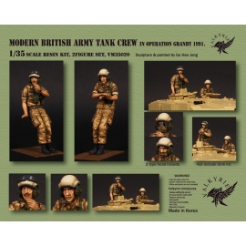 1/35 Modern British Army Tank Crew in Operation Granby 1991 (2 Figures)