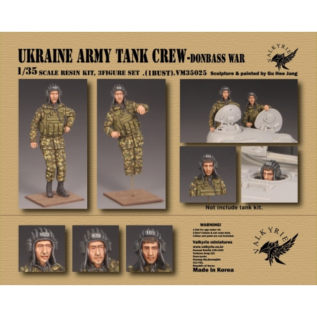 1/35 Ukraine Army Tank Crew - Donbass War (2 Figures and 1 Bust)