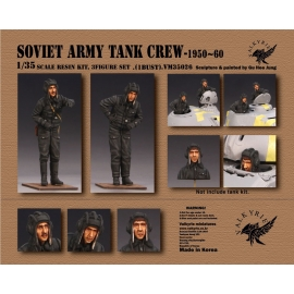 1/35 Soviet Army Tank Crew - 1950 ~ 60 Era (2 Figures and 1 Bust)