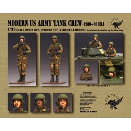 1/35 Modern US Army Tank Crew - 1980 ~ 90 Era (2 Figures and 1 Bust)