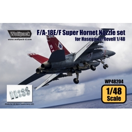 F/A-18E/F Super Hornet F414 Engine Nozzle set (for Hasegawa/Revell 1/48)