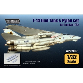 F-14 Tomcat Fuel Tank and Pylon set (for Tamiya 1/32)