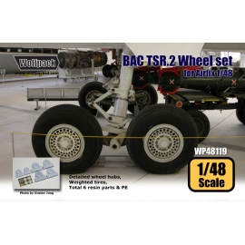 BAC TSR.2 Wheel set (for Airfix 1/48)